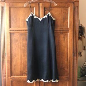 "Banana Republic Black silk ""slip-style"" dress"